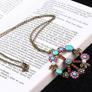 EP-Women-Vintage-Flower-Peace-Sign-Pendant-Long-Sweater-Necklace-Jewelry-Dreame