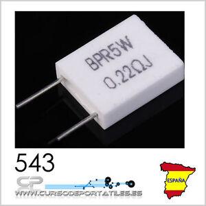 2 Unités BPR5W BPR 5W Céramique Résistance Ciment 5 W 0.22 ohm 0.22R y74gSrhF-09091813-460363755