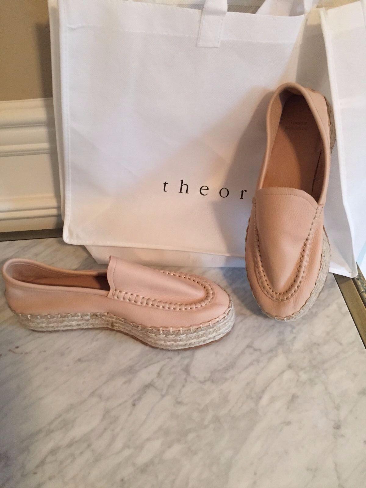 acquisti online Theory Theory Theory Leather Platform Espadrille scarpe  New 10  marchi di moda