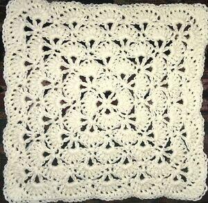 Handmade Crochet 12 inch square Cotton Blend Doily/Table Mat
