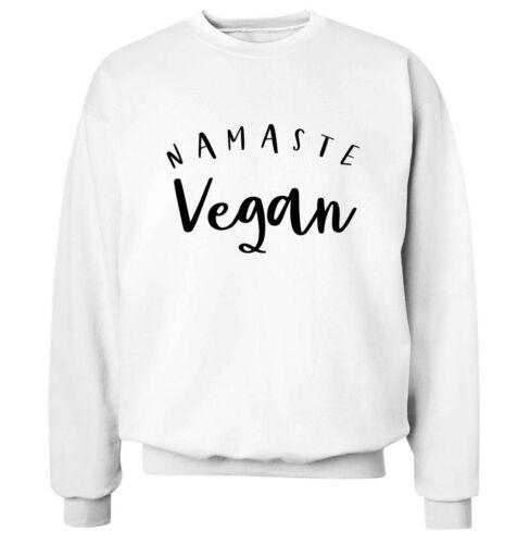 sweatshirt food menu green healthy hipster gift  5502 Namaste vegan hoodie