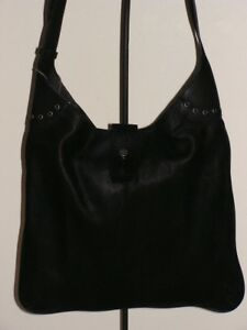 Image Is Loading Lucky Brand Rose Leather Shoulder Bag Black