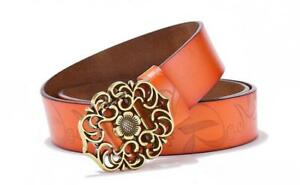 Top-quality-Fashion-Women-039-s-Genuine-Leather-Belts-Retro-Pattern-Flowers-bel