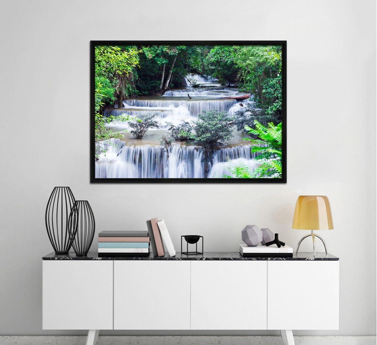 3d Bushes blanc Power 3 Framed Poster Home Decor Prints Painting Art AJ DE