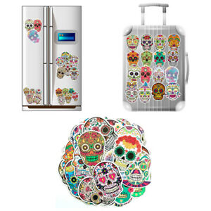 50Pcs-Colorful-Car-Sticker-Horrible-Sugar-Skull-Stickers-Laptop-Luggage-Decal-KW