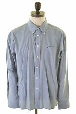 TOMMY HILFIGER Mens Shirt XL Blue Check Cotton