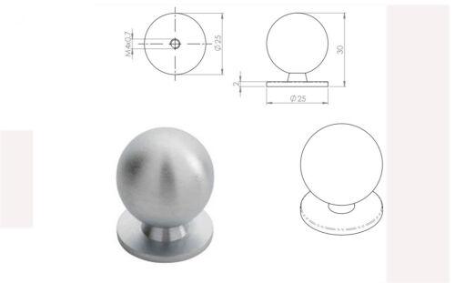 Carlisle Brass Solid Ball Cabinet Armoire Garde-robe Tiroir Tirer Porte Bouton