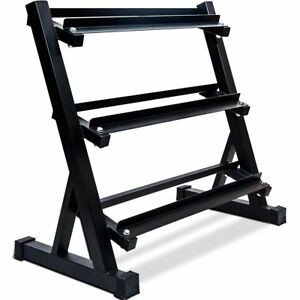new 3 tier dumbbell rack 800 lbs free weight capacity home
