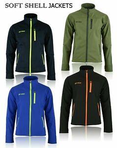 Soft Shell Fleece Lined Waterproof Windproof Outdoor Work Jacket Golf Mens