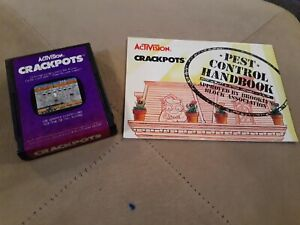 CRACKPOTS by ACTIVISION for Atari 2600 ▪︎ CARTRIDGE and MANUAL ▪︎