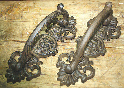 24 HUGE Cast Iron Antique Style RUSTIC Barn Handle Gate Pull Shed Door Handles