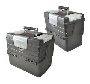 Set 2 X Werkzeugbox Xl Werkzeugkoffer Leer 43x29x37 Werkzeugkiste