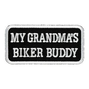 My Grandma S Biker Buddy Patch Kid S Biker Patches Ebay