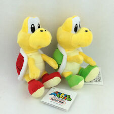 2X Super Mario Bros Plush Koopa Troopa Emeny Character Soft Toy Red Green New 6""