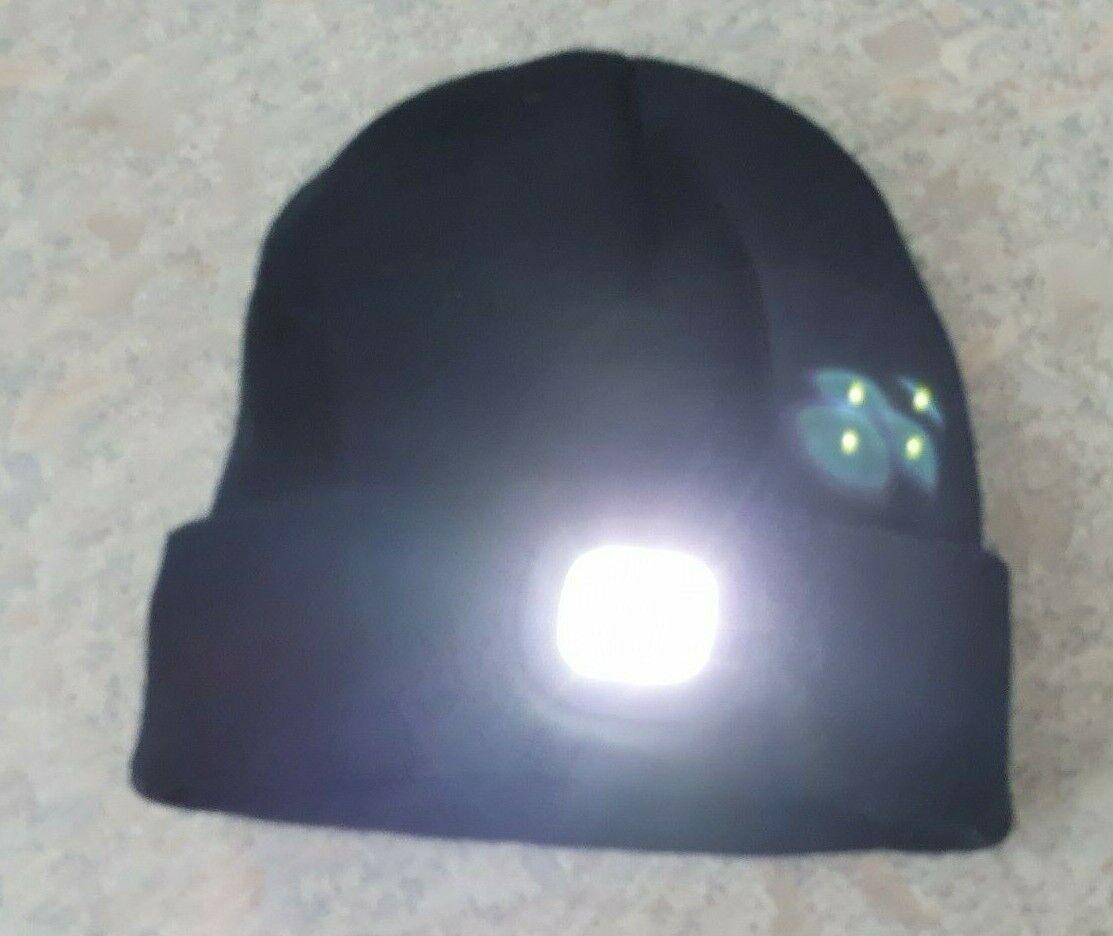Strickmütze, schwarz, TCM mit Stirnlicht, 3 Stufen einstellbar, One Size, Top