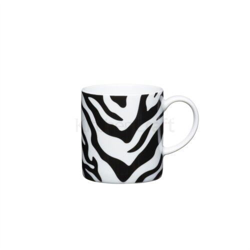 Set di 6 Kitchencraft 80ml Porcellana Zebra Print ESPRESSO CUP