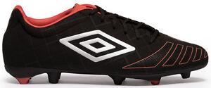 UMBRO-UX-ACCURO-Premier-HG-Chaussures-De-Football-Noir-Metal-grenadine-UK-9-5