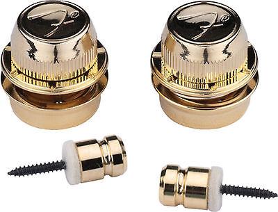 Fender F Strap Locks Gold FSLG1 0990818302
