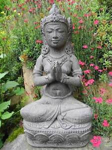 dewi tara sterneng ttin grau 40cm figur buddha steinguss statue deko garten haus ebay. Black Bedroom Furniture Sets. Home Design Ideas