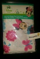 Disney Baby Happy Days Minnie Mouse Butterfly Flowers Clouds Crib Fitted Sheet