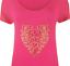 Plus-Size-Ladies-Short-Sleeve-Leopard-Print-Stud-Heart-Long-T-Shirt-Casual-Top thumbnail 16