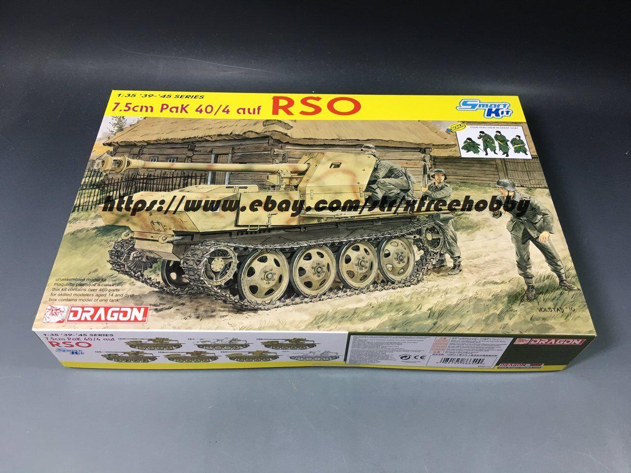 DRAGON 6640 1 35 7.5cm Pak 40 4 auf RSO
