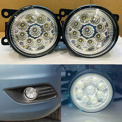 2X Front Fog Light Lamps DRL For Focus Fiesta MK6 MK7 Plug/&Play 4F9Z15200AA