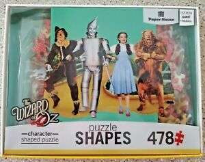 WIZARD-OF-OZ-478-Piece-Jigsaw-Puzzle-Character-Shapes-NIB-Free-Shipping