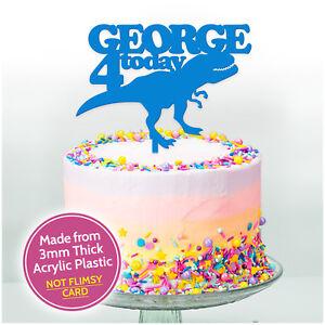 Dinosaur Cake Topper Custom Birthday Party Cake Decoration Boys Kids