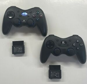 2x Logitech Wireless PS2 Playstation 2 Controllers & Dongles G-X2D11 FREE SHIP!