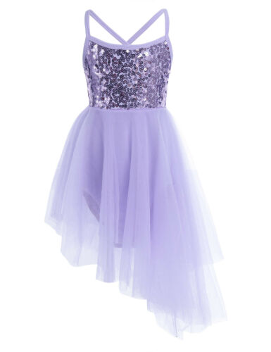 UK Girls Ballet Dance Leotard Dress Kids Ballroom Dancing Gymnastic Tutu Skirt