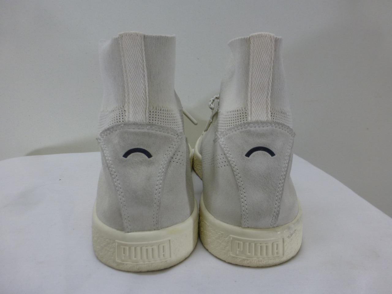 PUMA Clyde White basketball Sock 363670-02 hi top basketball White Scarpe scarpe da ginnastica Uomo sz 12 46 83f084