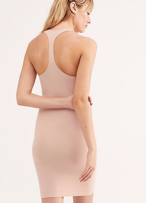 NEW Free People Intimately Square Neck Slip Dress in Pink Sz XS//S-M//L $39.73