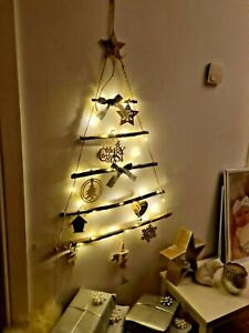 Unique Wall Hanging Space Saving Led Rustic Christmas Tree Light Up Pre Lit Ebay