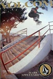 Volcom-2001-Mark-Appleyard-skateboard-Big-promo-poster-Nice-NEW-old-stock