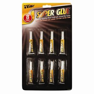 8-Pack-Super-Glue-DIY-Crafts-wood-Glass-Superglue-Strong-Model-Fast-Fix-Adhesive