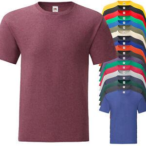 137f0c5f1d Dettagli su T-Shirt Da Lavoro Uomo Maglietta Manica Corta Cotone FRUIT OF  THE LOOM Iconic T