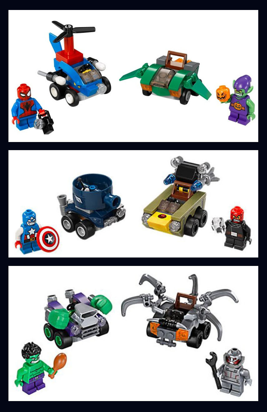LEGO Mighty Micros Micros Micros Complete First Series 76061 / 76066 Marvel & DC Superheroes 320fb6