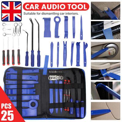 Plier 26X Plastic Car Door Panel Trim Removal Tool Kit Audio Radio Pry Molding