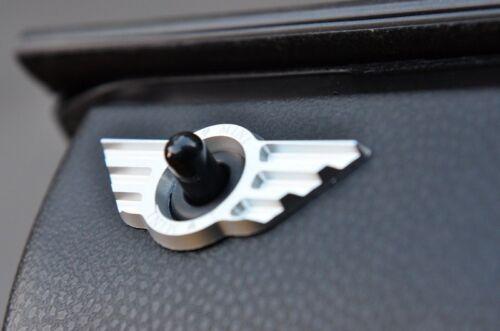 2002-2013 MINI COOPER  DOOR LOCK BADGE IN Silver color R50-R59 Clubman Coupe
