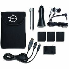10 in 1 Essential Travel Pack for Nintendo DSi / DSL Case Charger Stylus Black