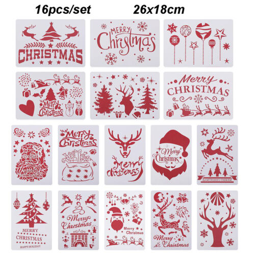 Decorative Scrapbooking Painting Template Layering Stencils Merry Christmas