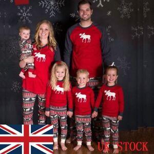 XMAS-PJs-Family-Matching-Adult-Women-Kids-Christmas-Nightwear-Pyjamas-Pajamas-UK