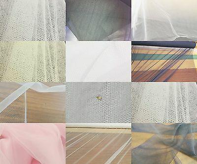 Net Bridal Veiling Wedding Prom Overlay Tulle Tutu Soft Fabric 300 cm Wide-Ivory