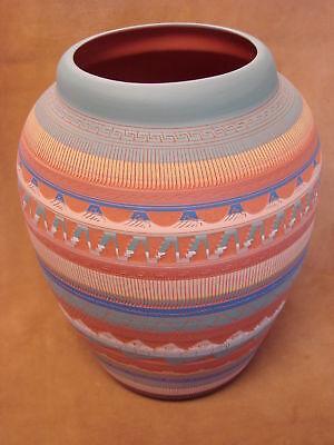 Temperamentvoll Native American Indianer Hand Geätzte Von Ardellia Shirley! Vase Komplette Artikelauswahl