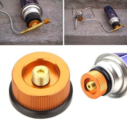 Outdoor Camping Burner Conversion Head Stove Connector Gas Bottle Adaptor LC