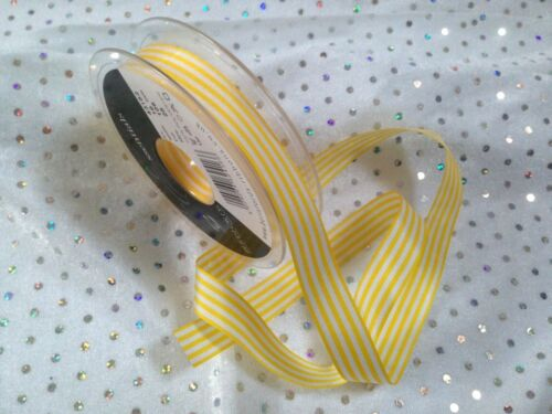 Berisfords D//Faced PENCIL STRIPE Ribbon 14 Shades /& 4 lengths available 9mm
