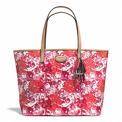 NEW ARRIVAL! COACH METRO FLORAL PRINT NEVERFULL LEATHER TOTE BAG PINK $328 SALE