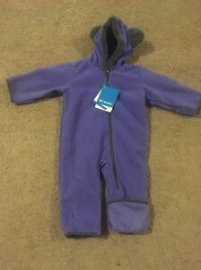 d17b1a70c NWT Columbia Girls Tiny Bear II Bunting Suit Purple (XN0008-564)