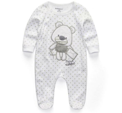Newborn Rompers Baby Jumpsuit Kids Outfit Button Soft Cotton Babies Clothes